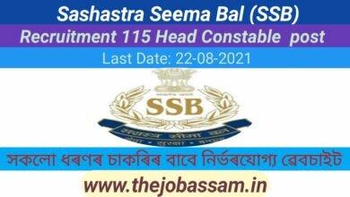 Photo of Sashastra Seema Bal  (SSB)   Recruitment  115 Head Constable (Ministerial) Group 'C' Post
